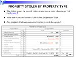 property stolen by property type41