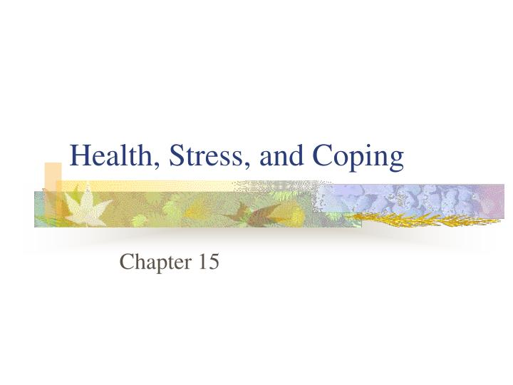 health stress and coping n.