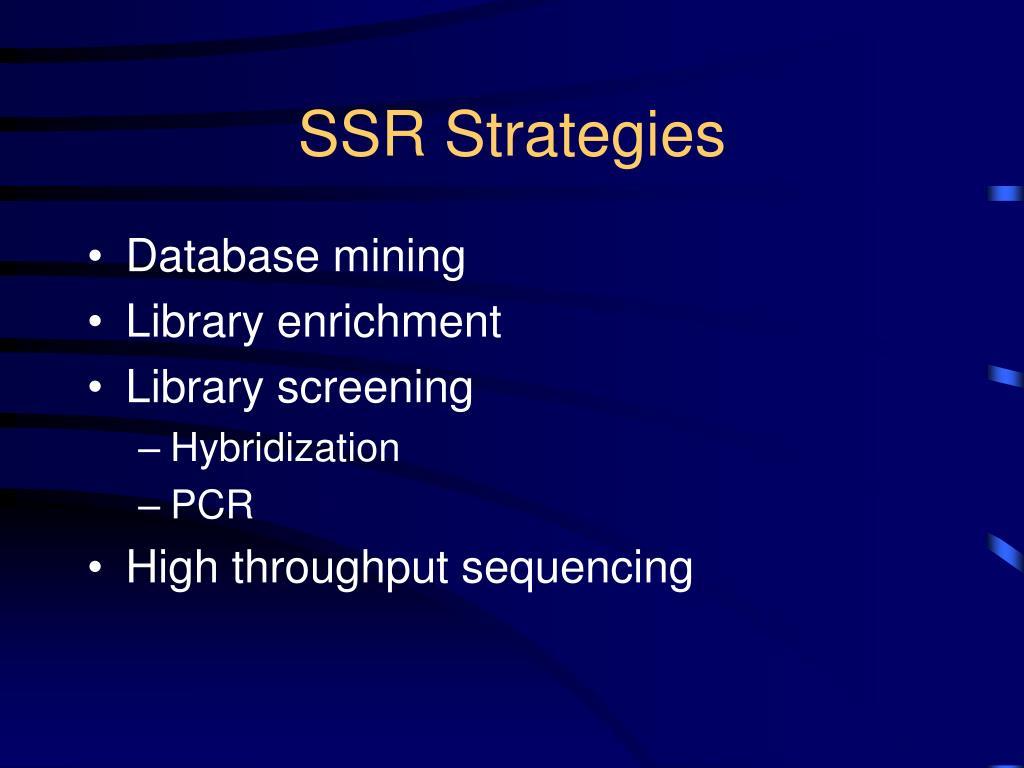 SSR Strategies