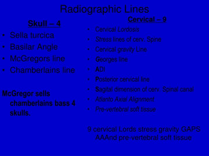radiographic lines n.