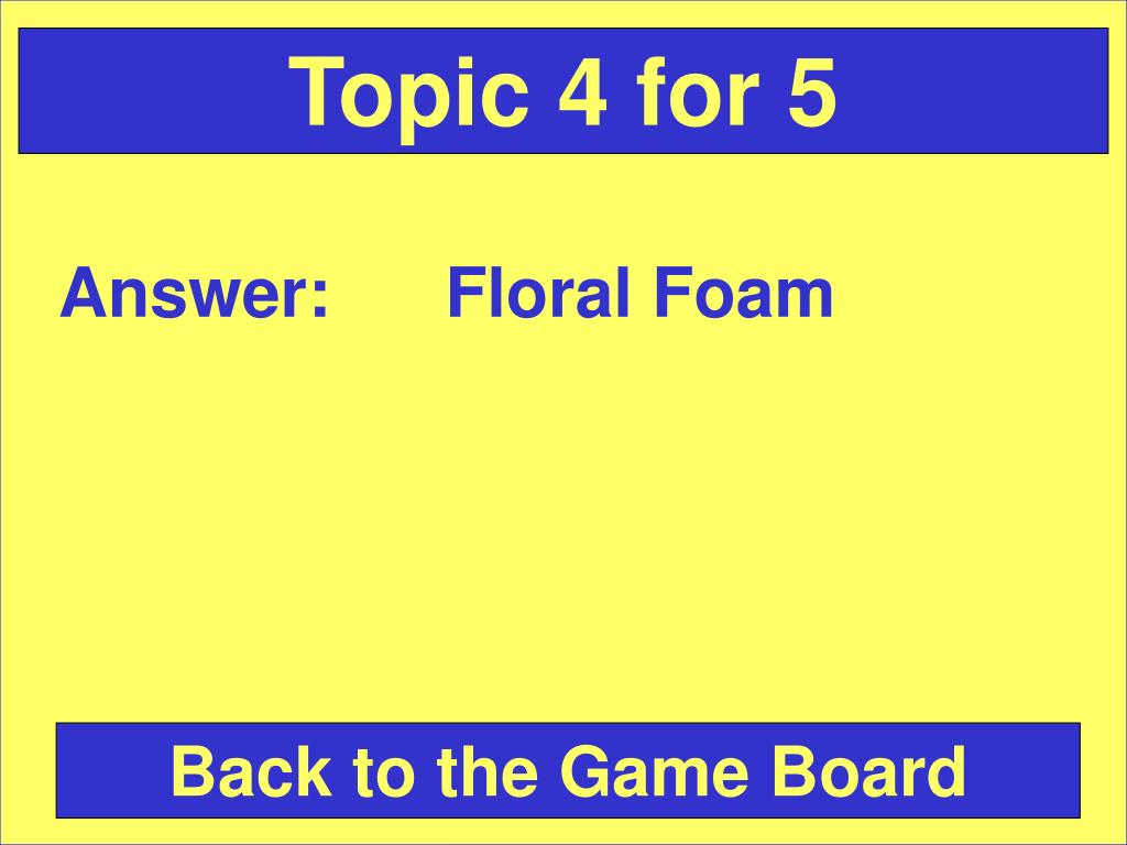 Topic 4 for 5