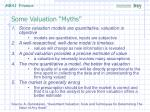 some valuation myths