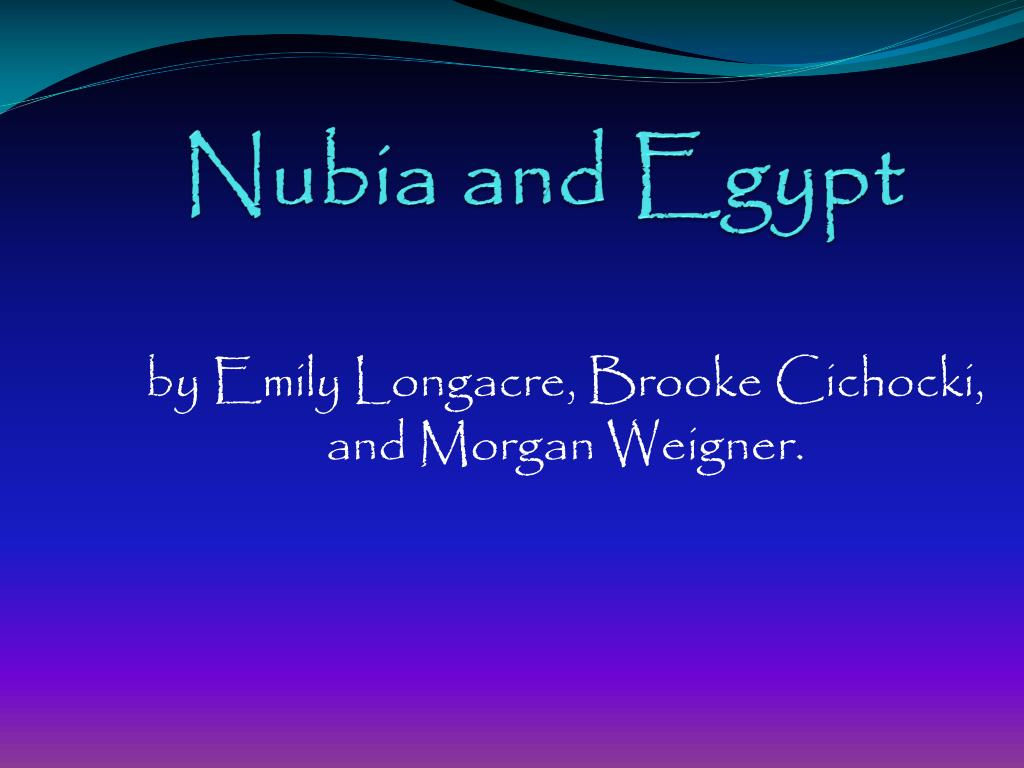 nubia and egypt l.