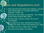 rules and regulations cont