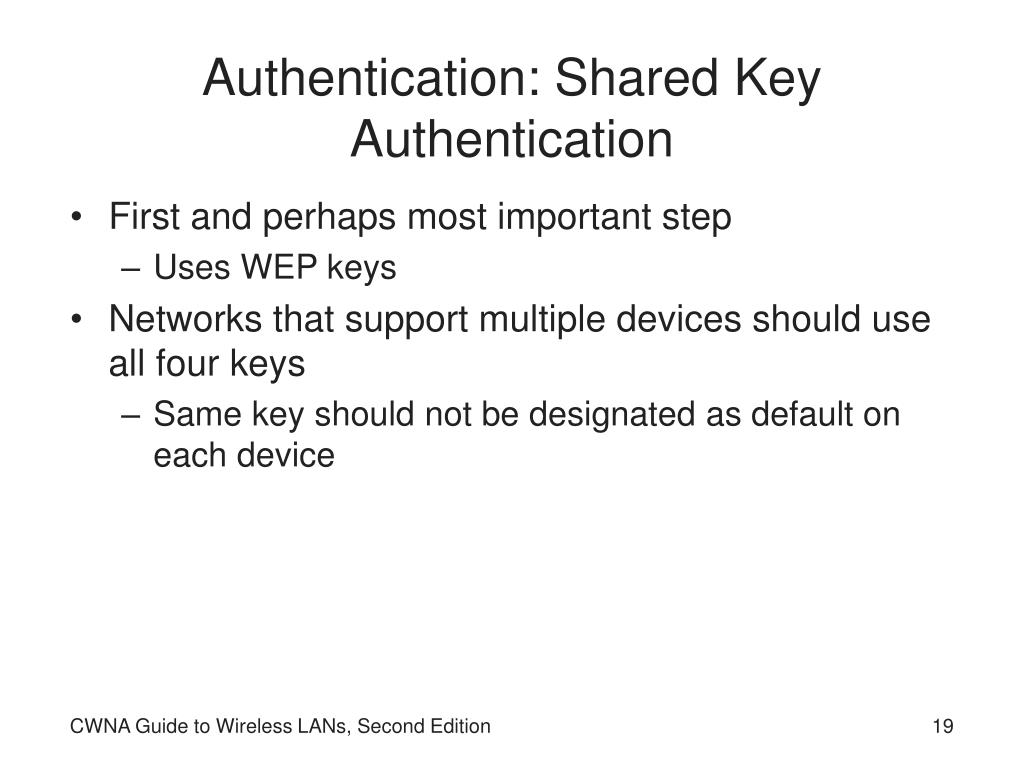 Authentication: Shared Key Authentication
