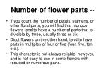 number of flower parts