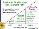 customer relationship development path