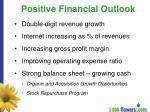 positive financial outlook