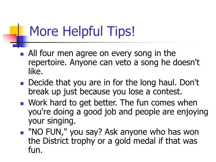 More Helpful Tips!