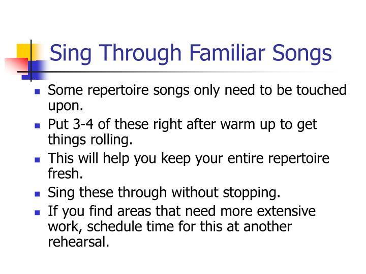 Sing Through Familiar Songs