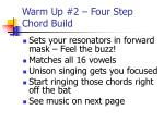 warm up 2 four step chord build