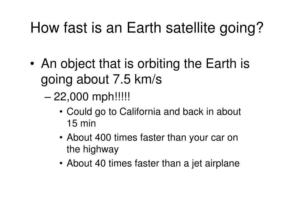 How fast is an Earth satellite going?