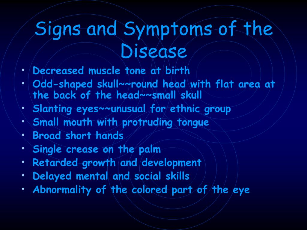 Signs and Symptoms of the Disease