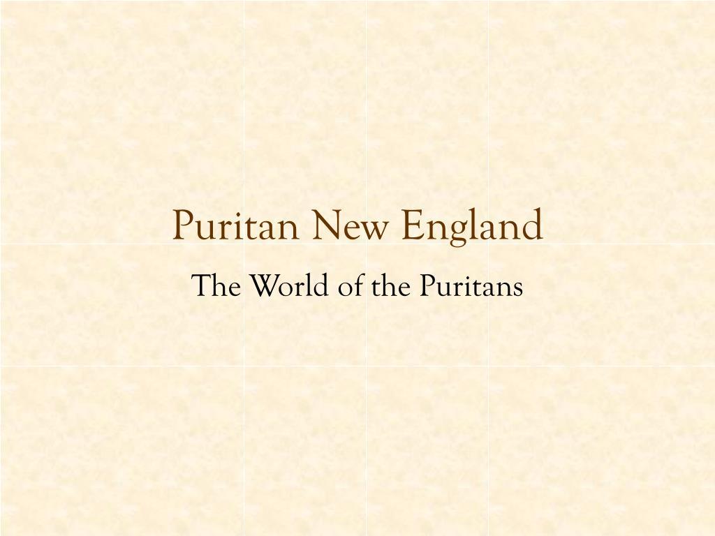 puritan new england l.