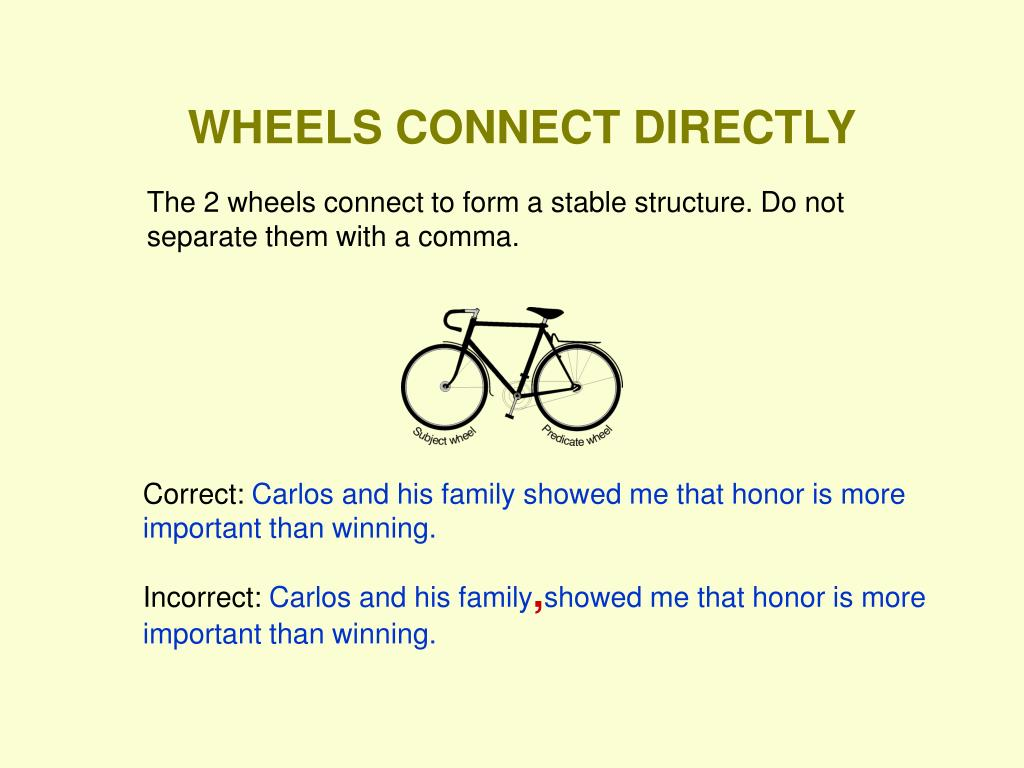WHEELS CONNECT DIRECTLY