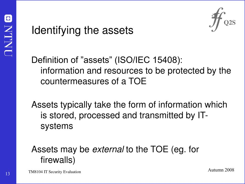 Identifying the assets