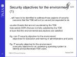 security objectives for the environment 1
