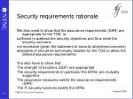 security requirements rationale41
