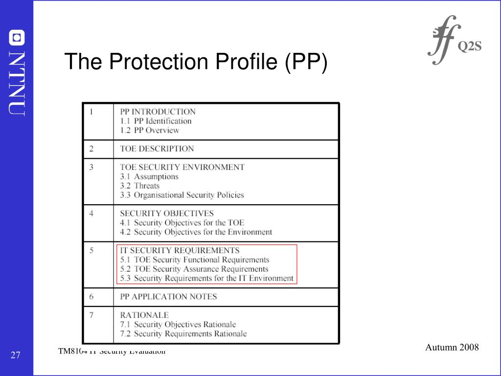 The Protection Profile (PP)