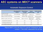 aec systems on mdct scanners79
