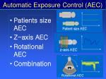 automatic exposure control aec63