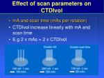 effect of scan parameters on ctdivol