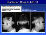 radiation dose in mdct31