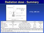 radiation dose summary