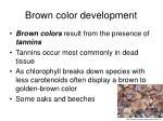 brown color development