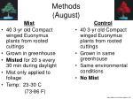 methods august