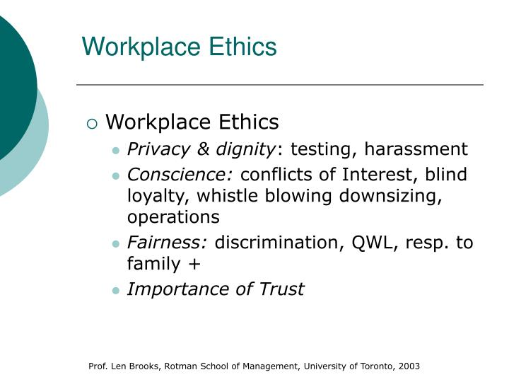 essay on ethics in the workplace