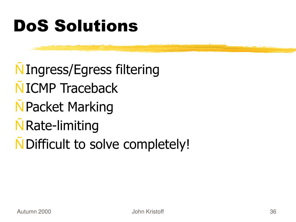 DoS Solutions