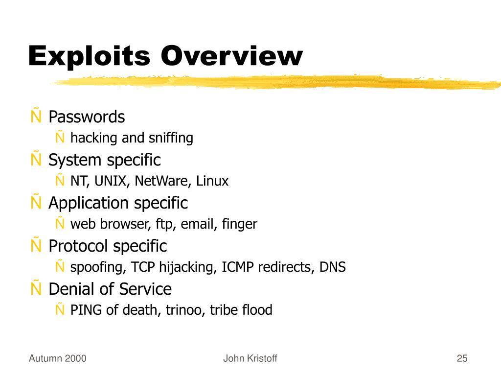 Exploits Overview