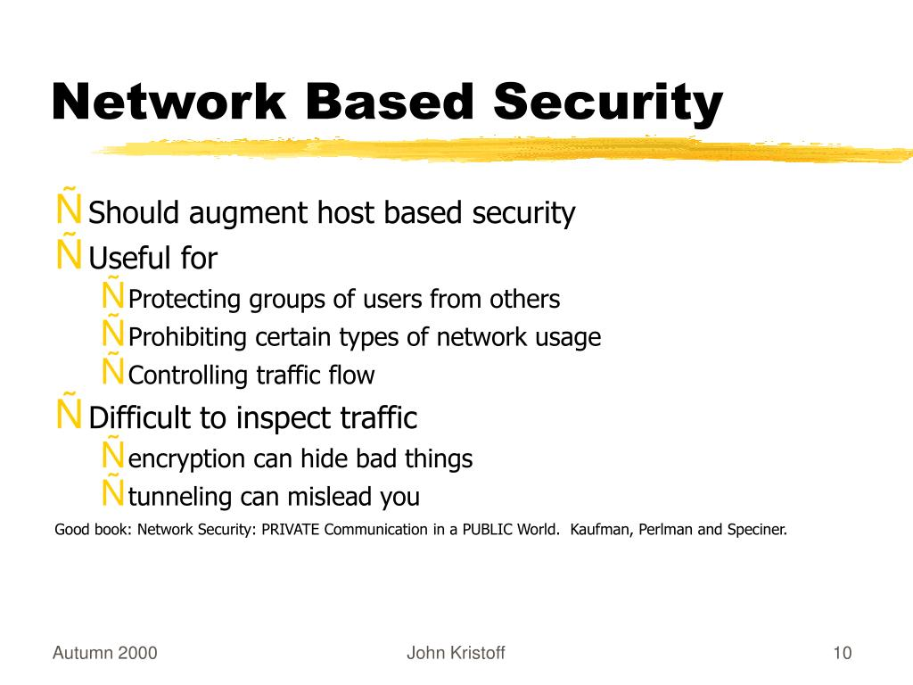 Network Based Security
