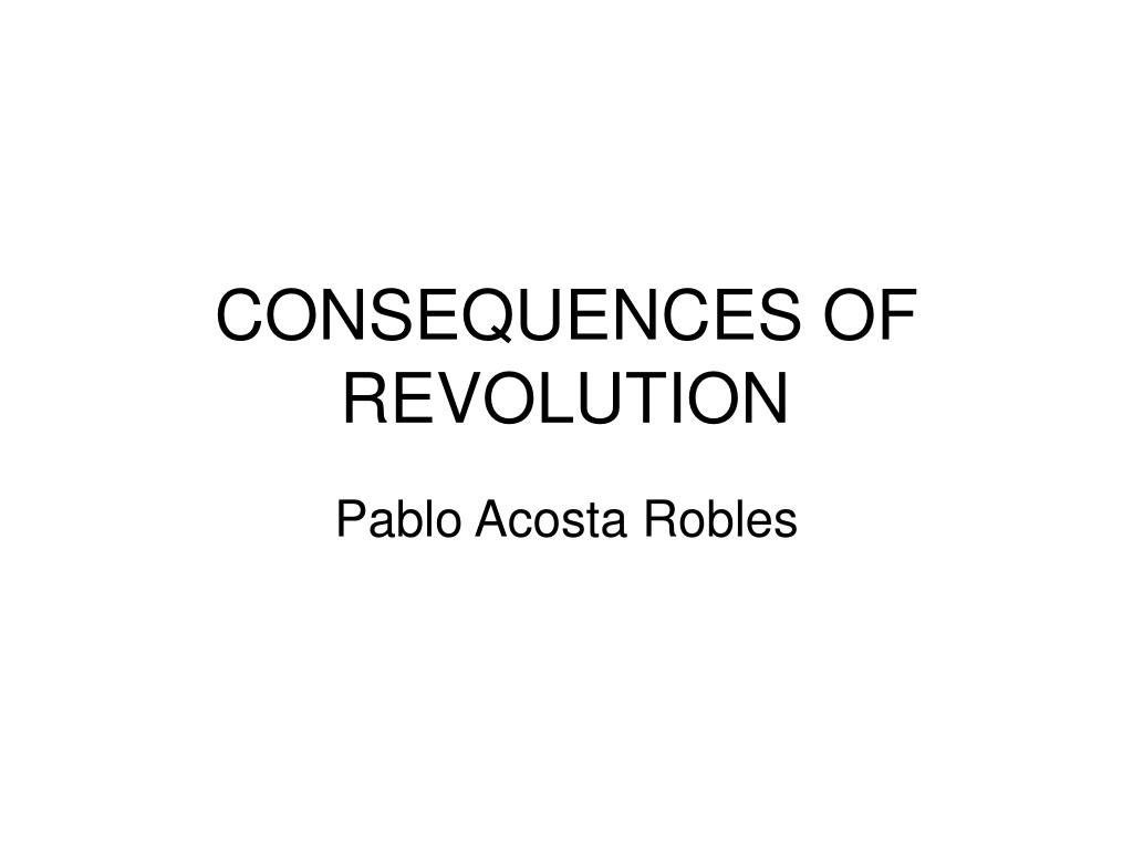 consequences of revolution l.