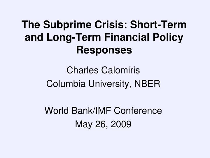 the sub prime crisis essay Subprime mortgage crisis 2 domino effect as housing prices declined us median price of homes sold sponsored enterprises as gatekeepers increased the number of subprime.