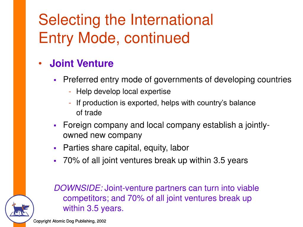 joint venture entry mode