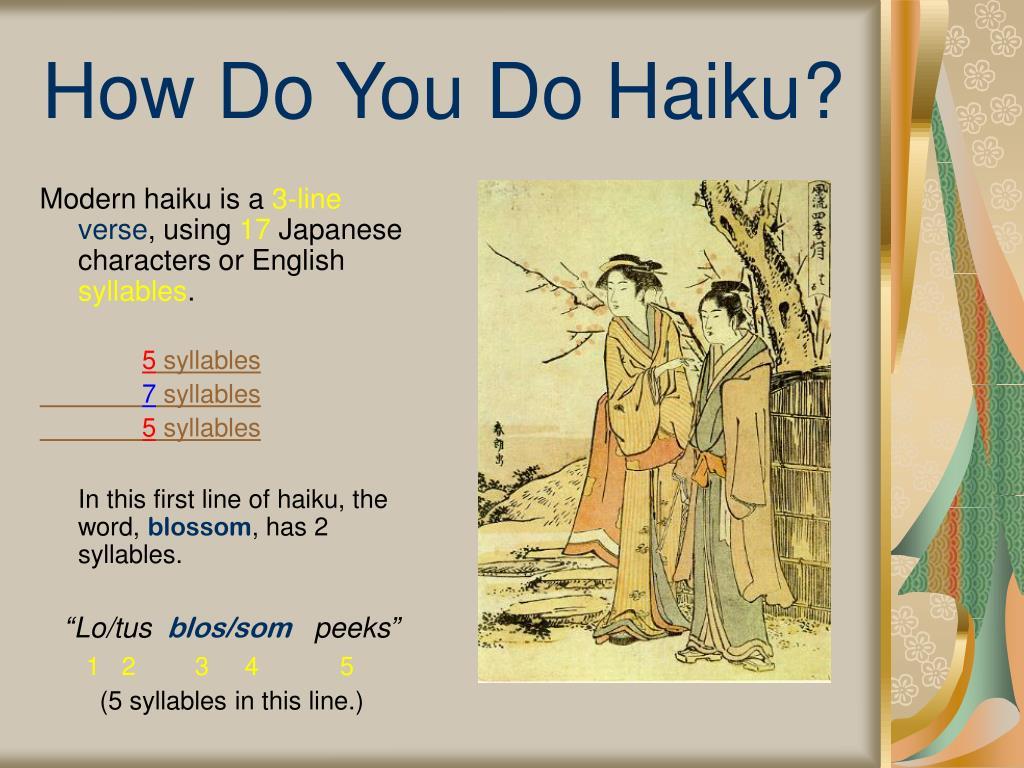 How Do You Do Haiku?