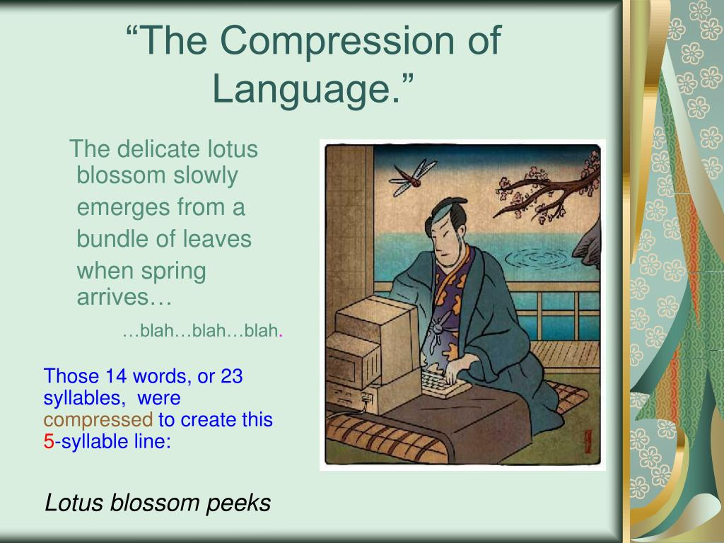 """""""The Compression of Language."""""""