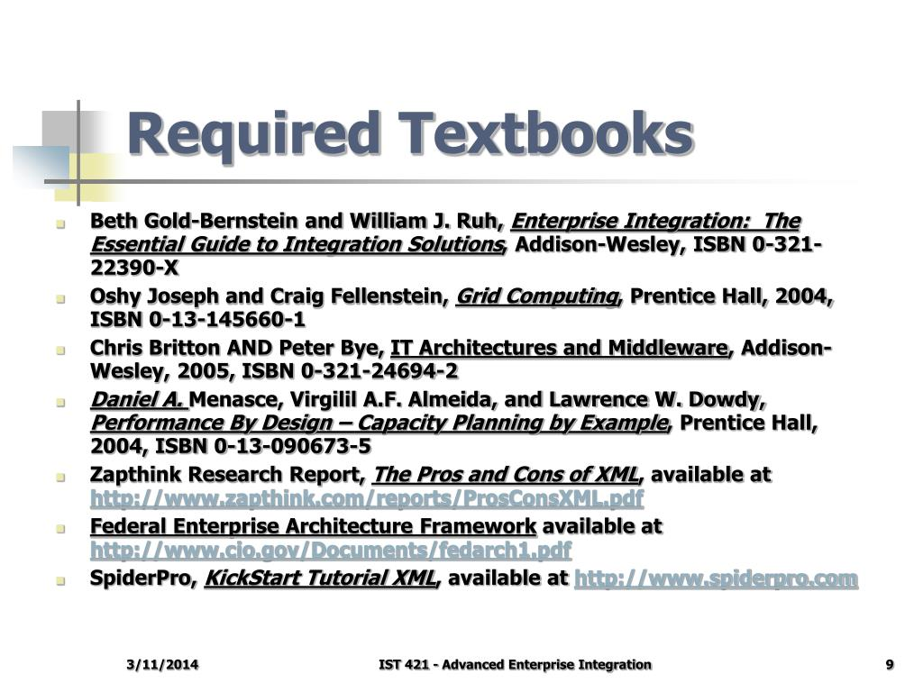 Required Textbooks