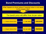 bond premiums and discounts