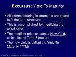 excursus yield to maturity