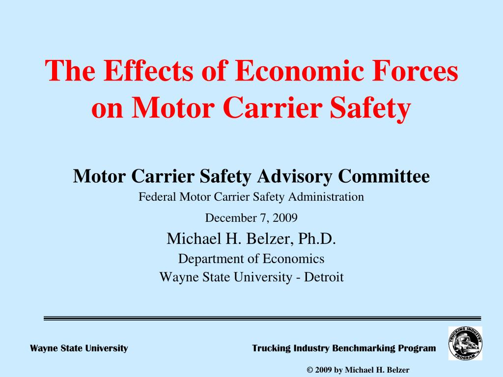 Ppt motor carrier safety advisory committee federal for What is the federal motor carrier safety regulations