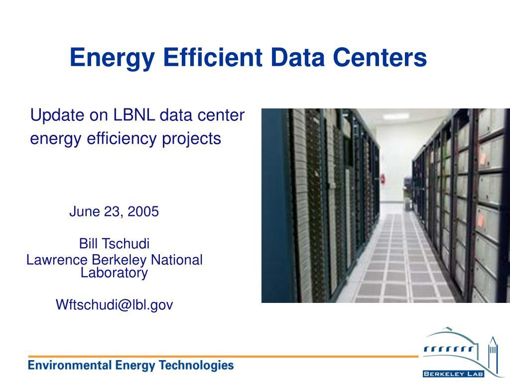 energy efficient data centers l.
