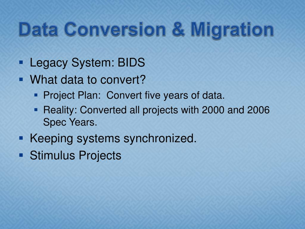 Data Conversion & Migration