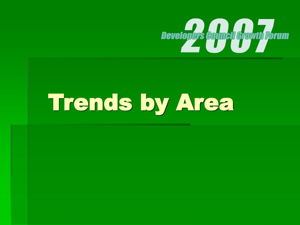 Trends by Area