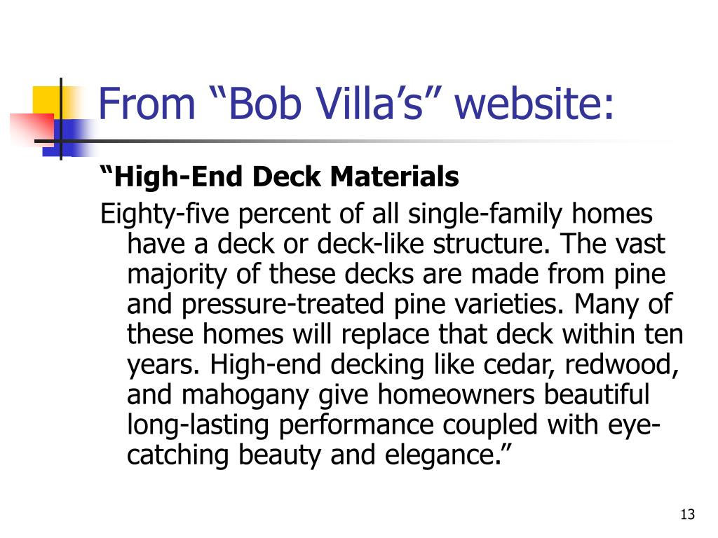 "From ""Bob Villa's"" website:"