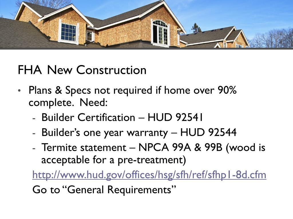 FHA New Construction