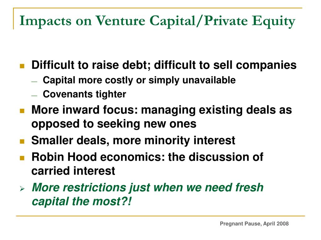 Impacts on Venture Capital/Private Equity