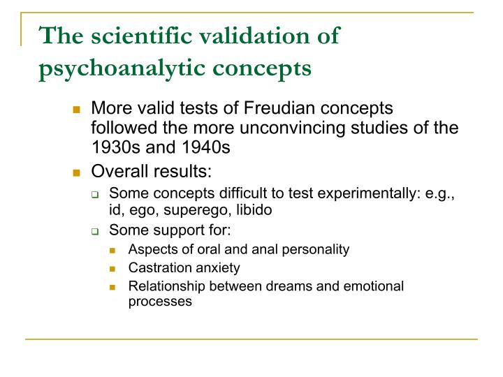 psychoanalytic concepts